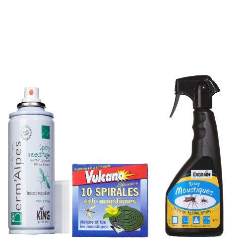 pack anti moustique, spray anti-mousque, spirale anti moustique, produit anti moustique efficace, anti moustique efficace